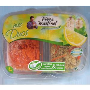 La duo (carottes râpées assaisonnées & taboulé oriental) 300g